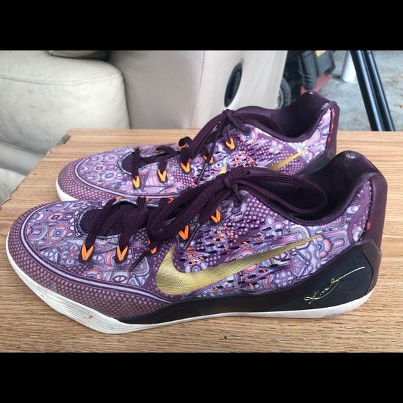 Nike Other - Nike Kobe IX 9 EM Silk Paisley Sneakers Size 10